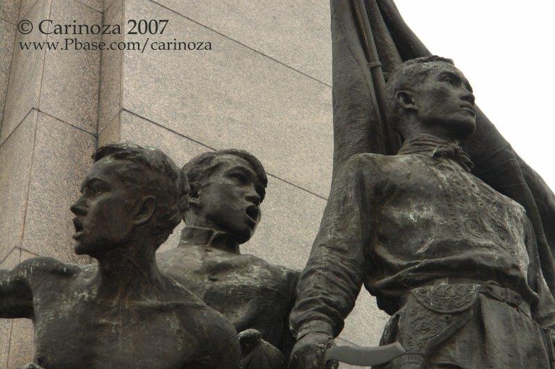 Emilio Jacinto (The Brains of the KKK) with Andrés Bonifacio (The Great Plebeian)