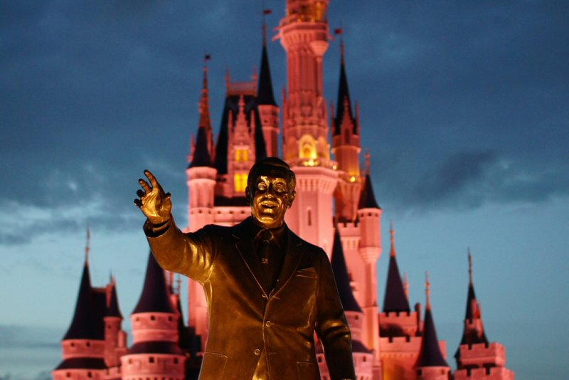 Walt and castle at night