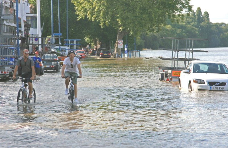 Nothing stops a dedicated cyclist.