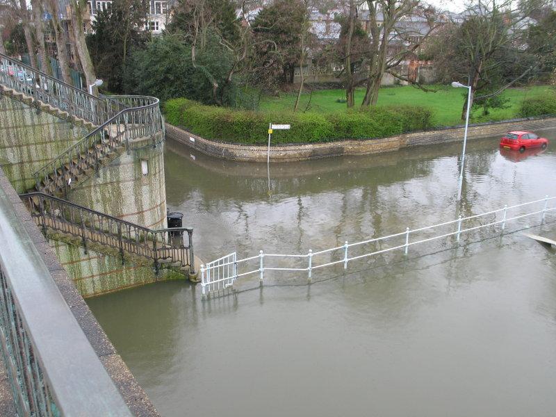 View from Twickenham road bridge.