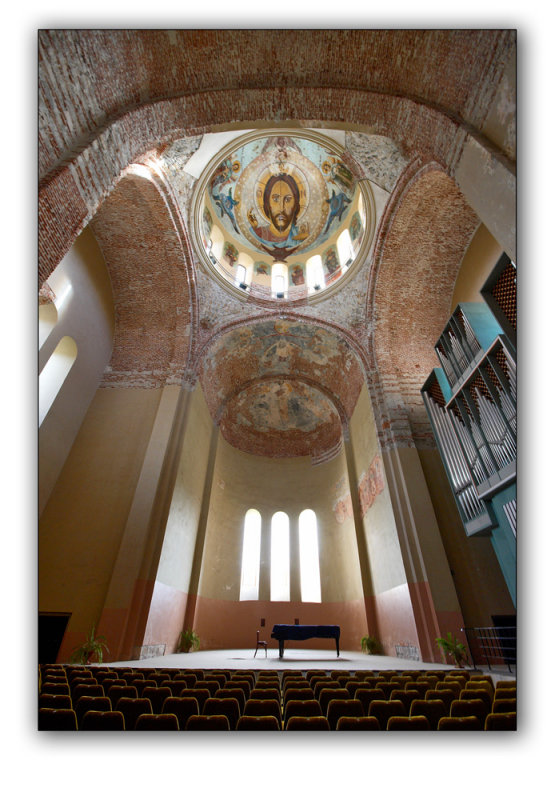 republic of Abkhazia, concert hall inside Pitsunda Cathedral