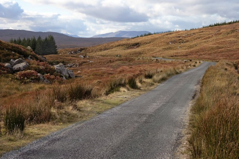 Scenic road in the Connemara