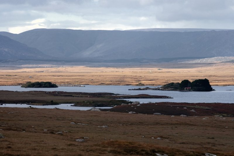 Connemara landscape in the late afternoon
