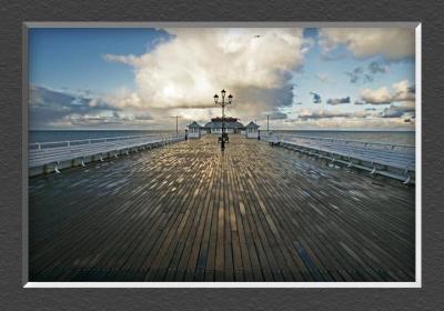 Cromer Pier under Stormy Skies