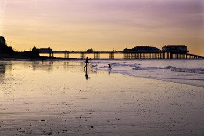 Sunset over Cromer Pier