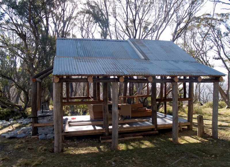 Ropers Hut - Rising from the ashes