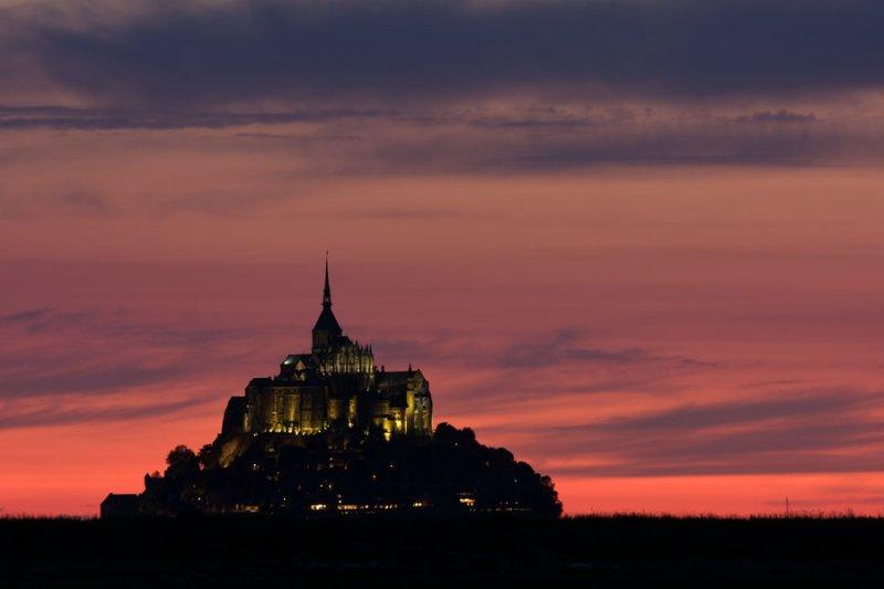 Sunset, Le Mont Saint-Michel