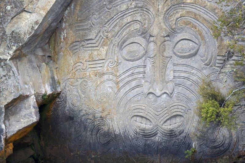 Ngatoroirangi maori rock carvings lake taupo photo tim