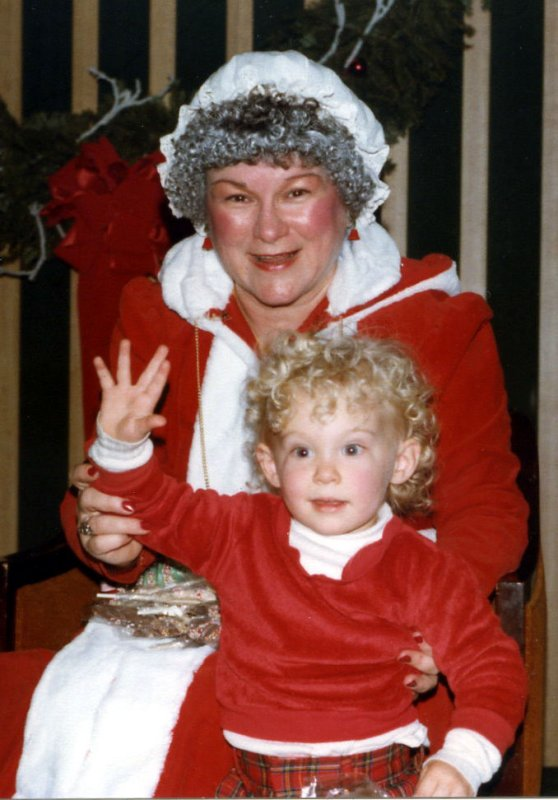Dan with Mrs. Claus - Christmas 1982