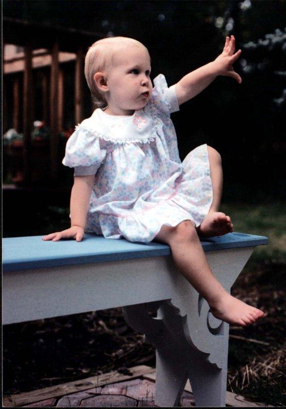 Sarah on bench 1