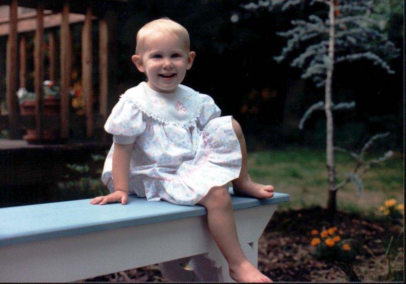 Sarah on bench 2