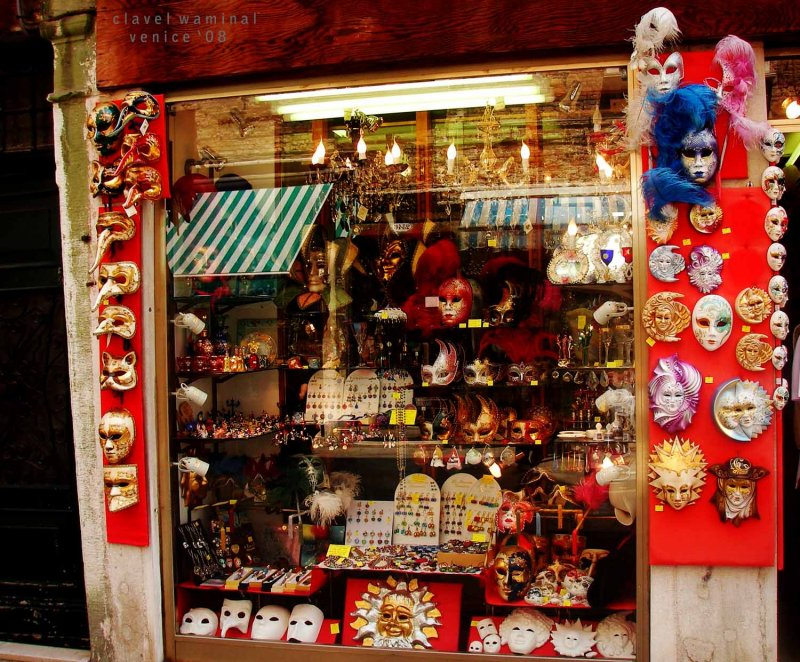 Venice is known for its Colorful Masks