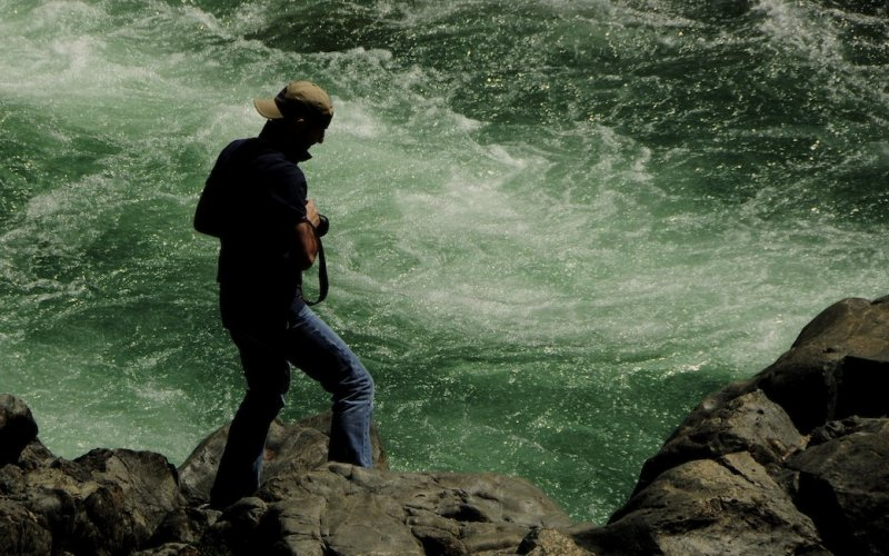 Richard Explores the Edge of the Yuba River