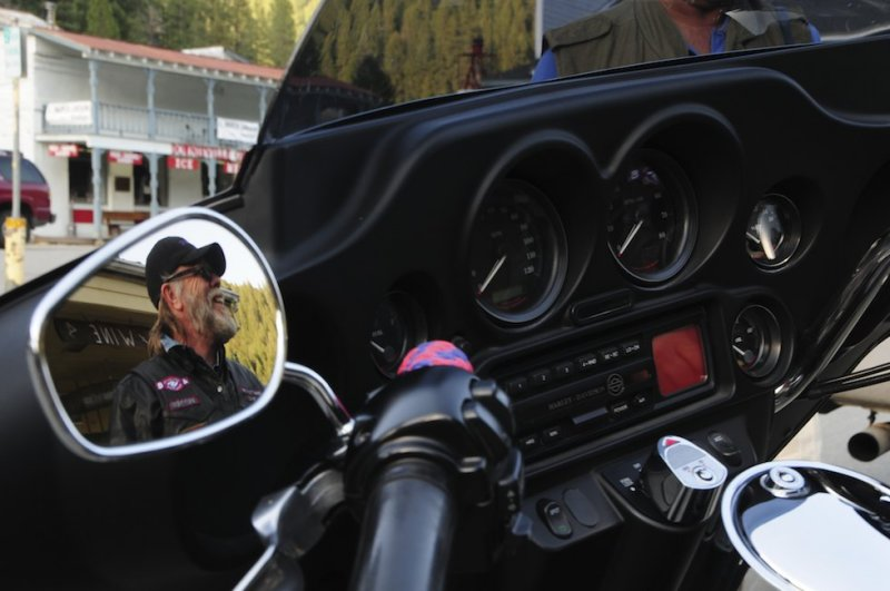 Motorcyclist in Downieville