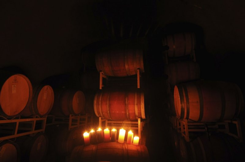 In the Wine Cave, Gold Hill Winery