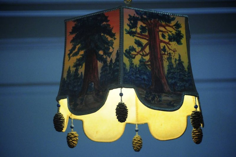 Lampshade Decorated with Sequoia Cones, Wawona Hotel