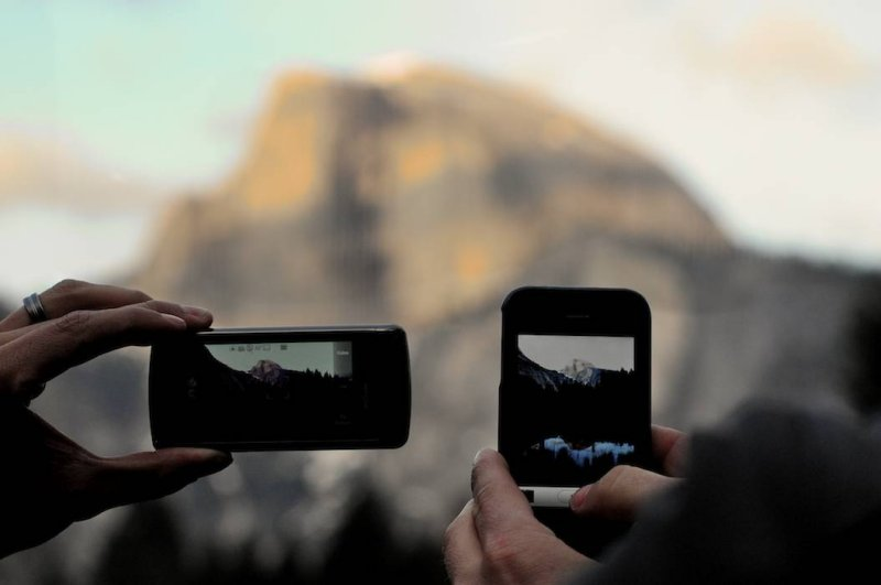 Photographing Half Dome with Cell Phone Cameras