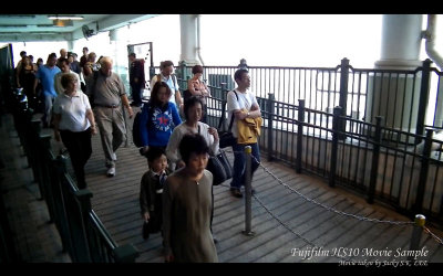 Passengers abroading a ferry