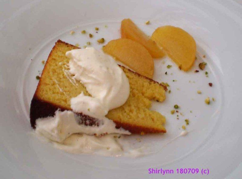 Orange Cake & Peach Slices
