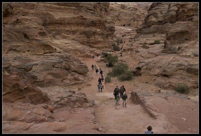 The climb to the monastery