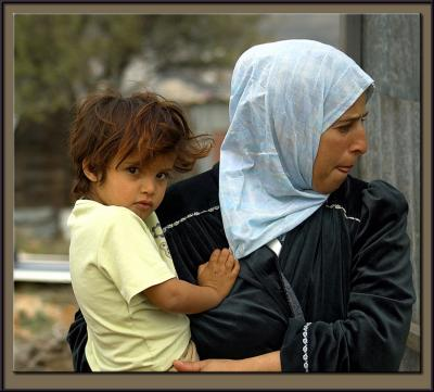 A Beduine woman and her child
