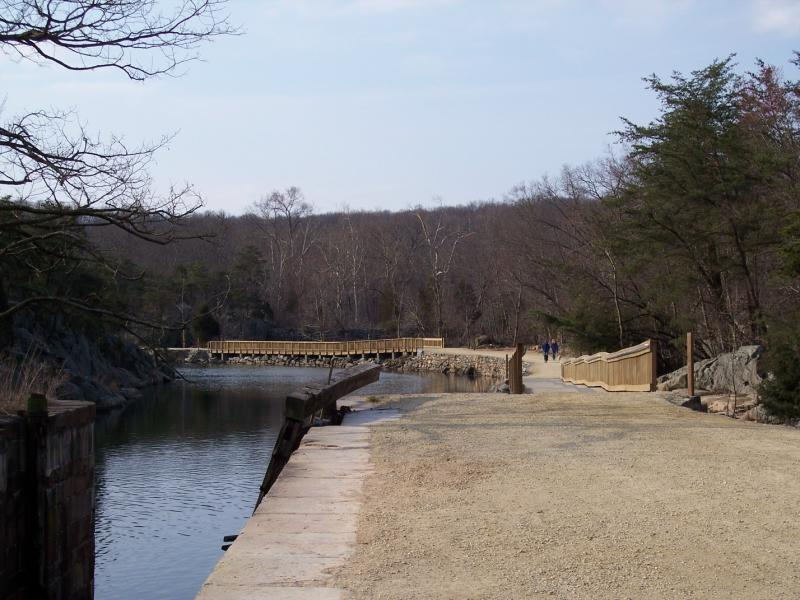 Repaired towpath at Lock 15
