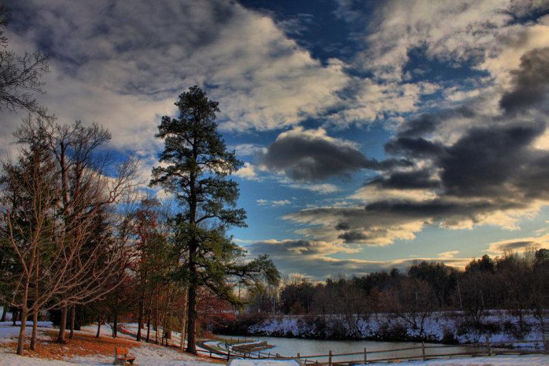 Park Pond in HDR<BR>December 16, 2009