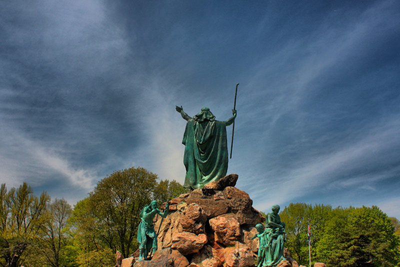 Moses in the Park in HDR<BR>April 24, 2010
