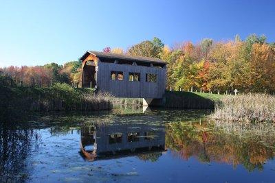 Covered Bridge Reflection<BR>October 22 2007