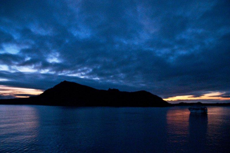 Sunrise Behind Bartolome Island