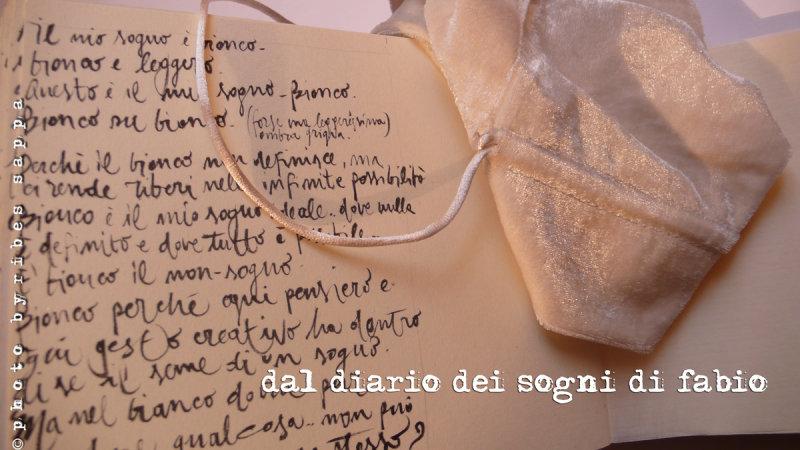 dal diario dei sogni di Fabio