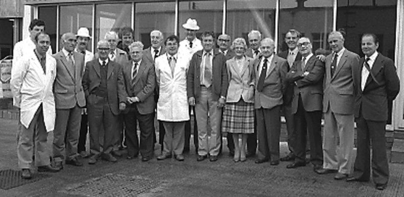Staff Ffatri Laeth Llangefni Medi 1985.