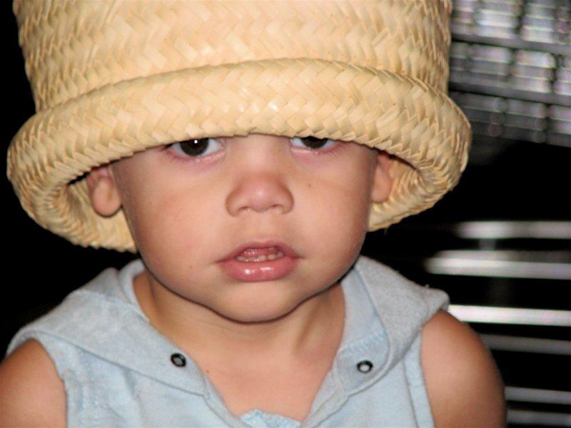 Korbins big palm basket hat
