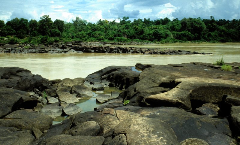 Kaeng Tana Rapids Along the Mun River