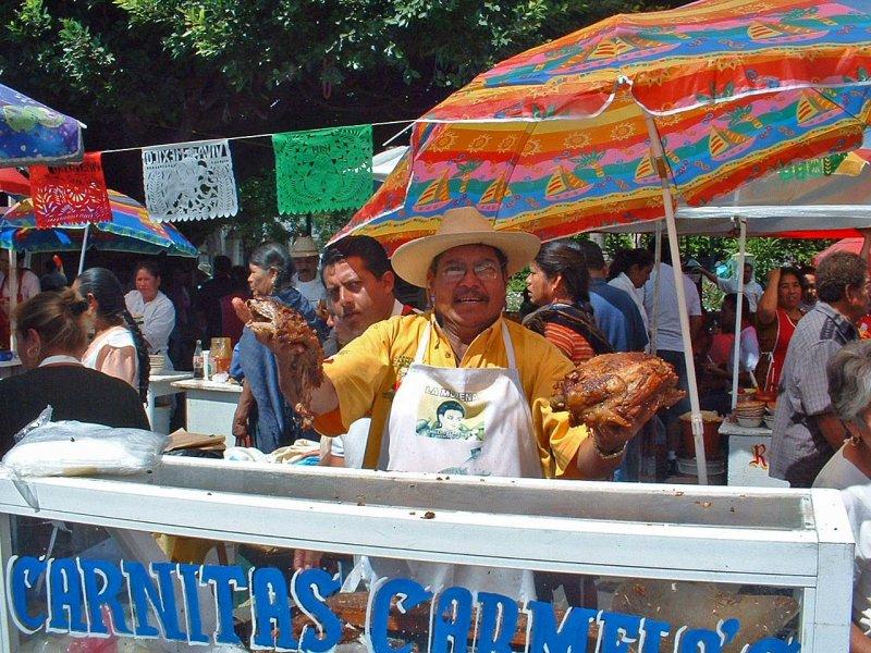 Las Carnitas Carmelos are famous