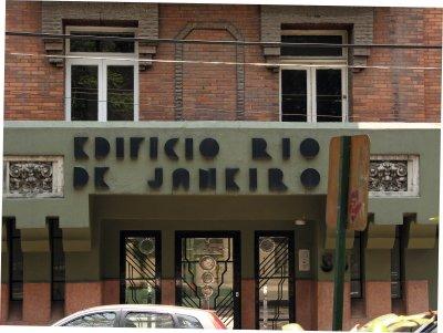 Edificio Río de Janeiro entrada,  Colonia Roma