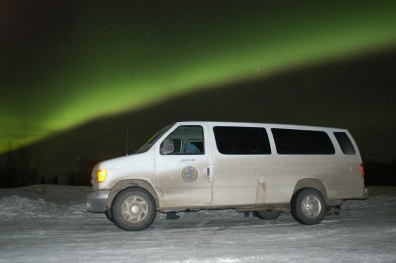 Our Van at Murphy Dome in Fairbanks