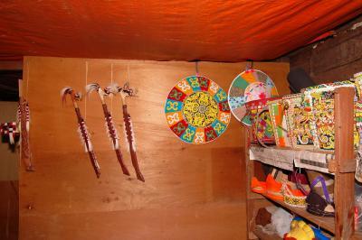 Inside of Kenyah Dayak House