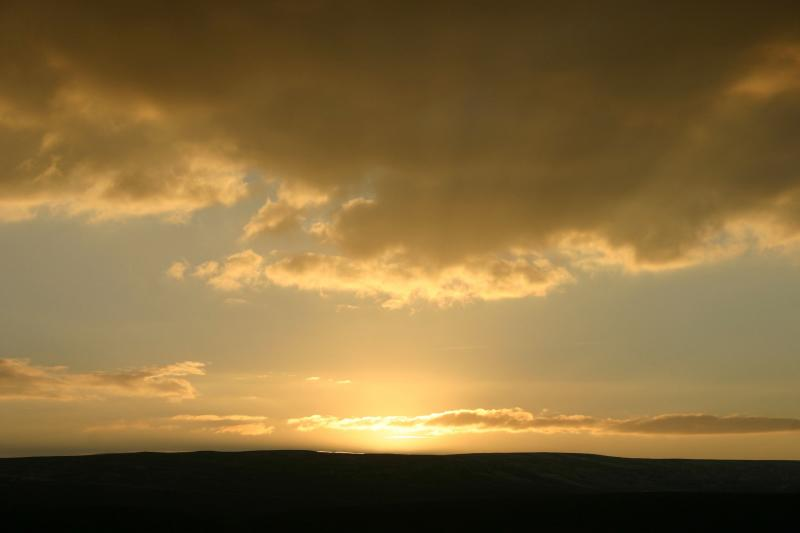 Sunset over Bollihope Common