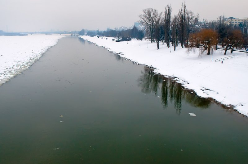 Wisla River In Winter