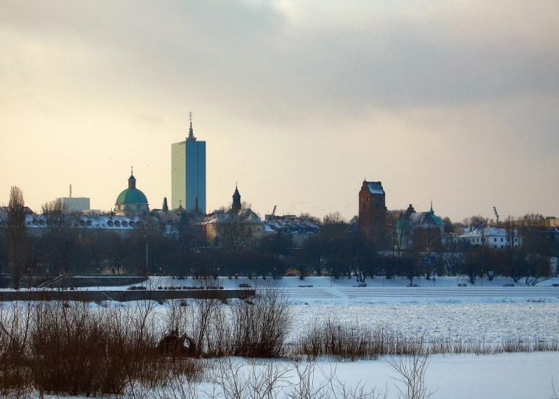 New Town In Wintertime