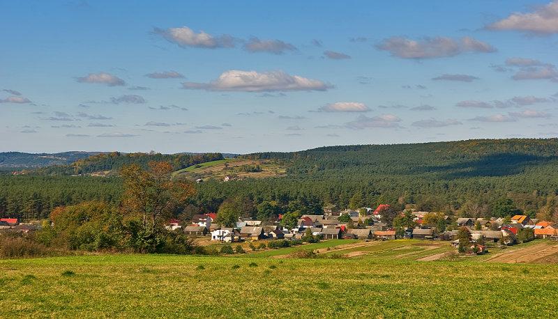 Obrocz Village Panorama