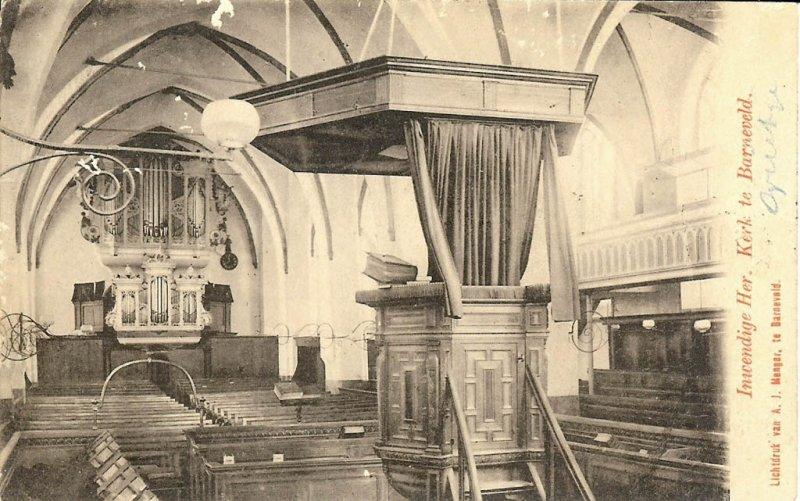 Barneveld, NH kerk interieur, circa 1900 photo - Pijk Kuipéri photos ...