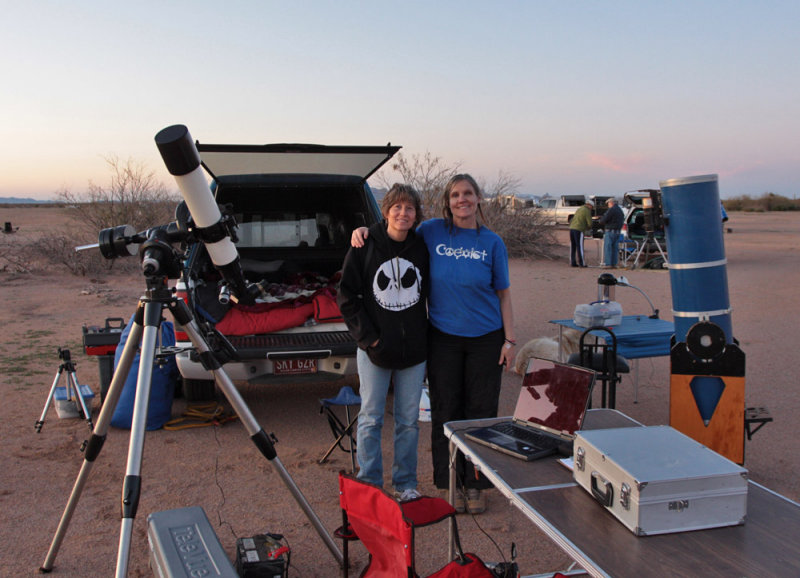 Burnhams niece, Donna Courtney joins us for a night of observing.  AZ City site, Messier Marathon March 13, 2010