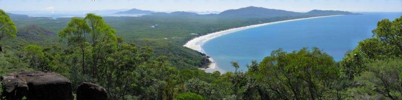 Ramsay Bay from Nina Peak.  Hinchinbrook Island, Queensland, Australia