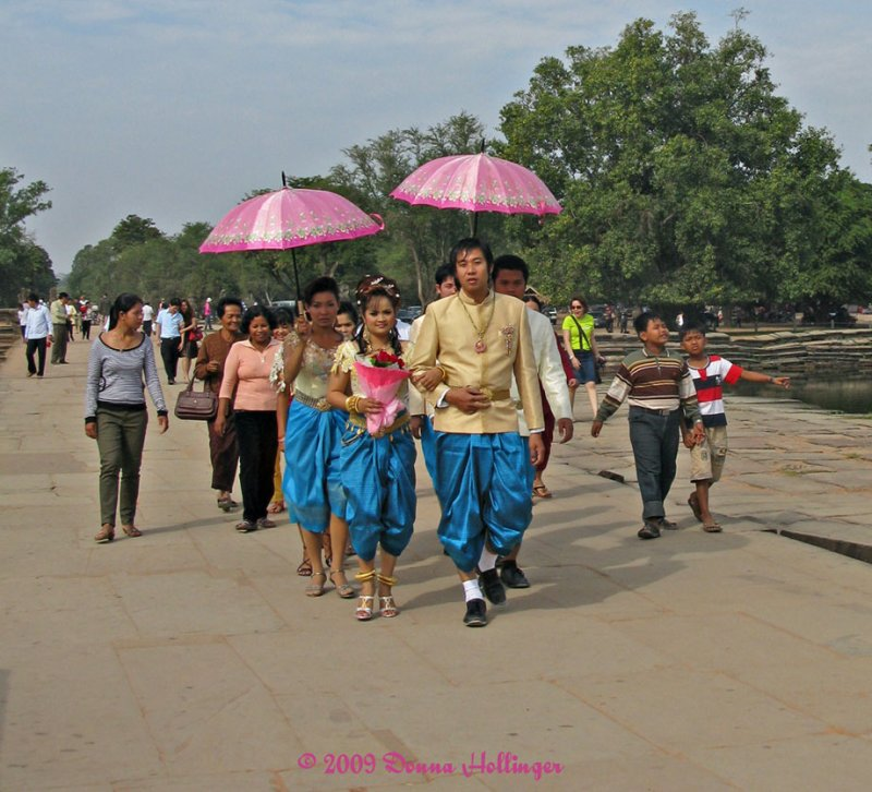 Wedding Party Entering Angkor Wat