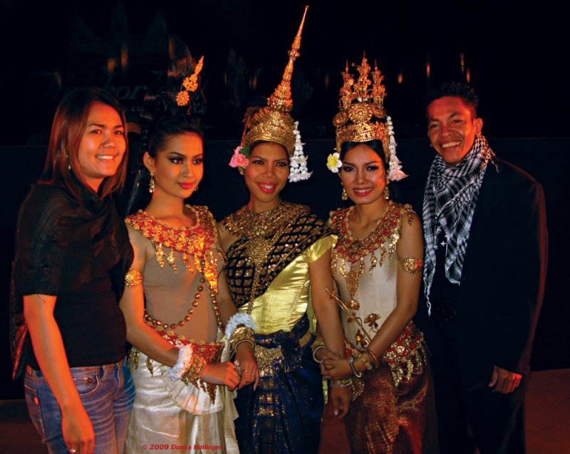 Sethisak and Apsara after Angkor Light Show