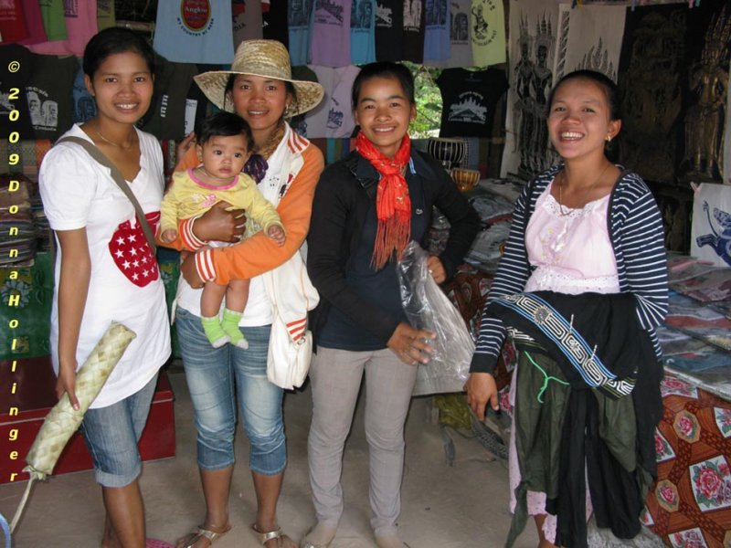 Women at the Ta Prohm Gift Stand