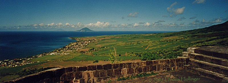 Nevis seen from the Fortress