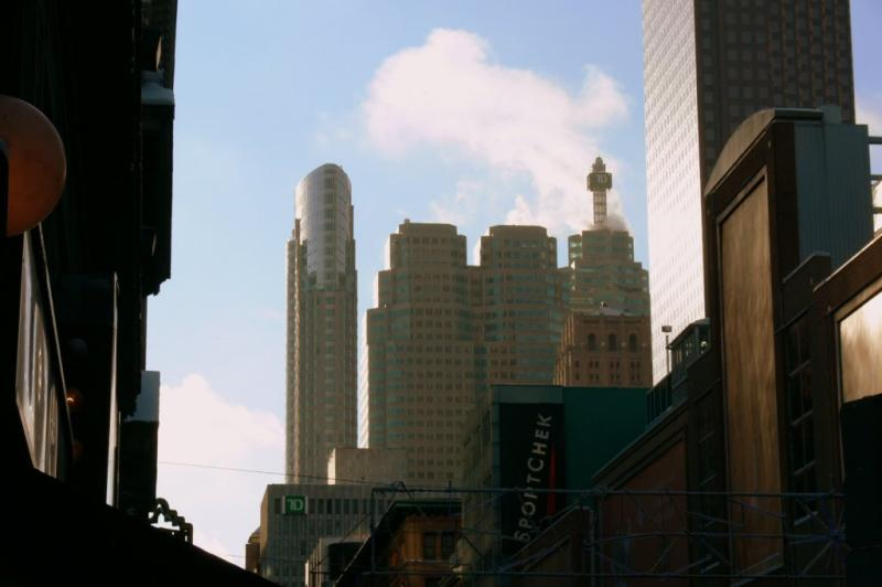 Toronto city skyline from Yonge Street